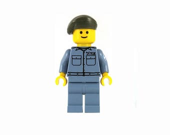 Male IDF Mini-Figure Border Patrol - Israeli Defense Force - Jewish Custom Lego® Set from JBrick