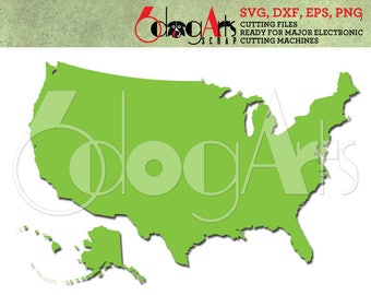 Us Map Svg Etsy - Usa map eps