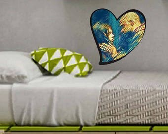 Heart, The 100, Valentine's Day, linctavia, Lincoln Octavia, Heart Wall Sticker, Hearth Fridge Magnet, TV Series, Gift, Valentine's Day Gift