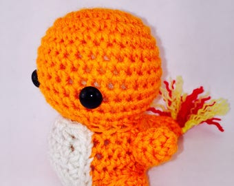 Chibi Charmander Pokemon Amigurumi Crochet Stuffed Animal Plushie