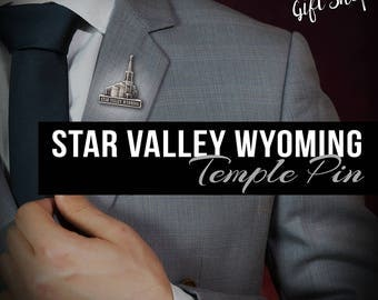 Star Valley Wyoming Temple pin silver or gold finish Lapel pin - LDS Temples