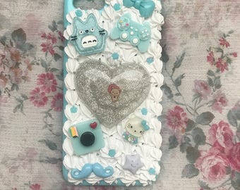 Kawaii Blue iPhone 6/6s Decoden Case