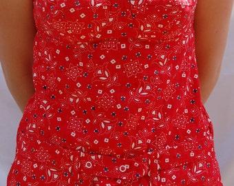 Vintage top // 1960's Jantzen top // tank top // women's top // 60's beachwear // 60's top
