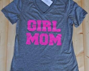Girl Mom Vneck Shirt