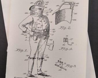 Fireman's Uniform Greeting Card