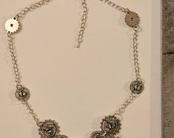 Starry Gears Necklace