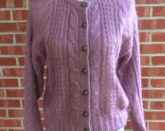 Forenza vintage mauve Forenza SOFT mohair sweater/cardigan. Small