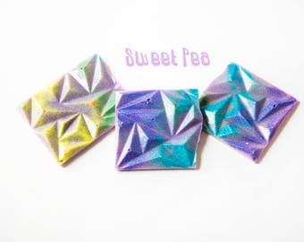 Sweet Pea Wax Melts (4 Oz.) - Hand Poured Wax - Scented Wax - Wax Melt Bars - Snap Bars - Wax Brittle - Handmade Wax Melts - Glitter Wax