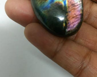 Labradorite purplish 35.04 Gr-oval stone