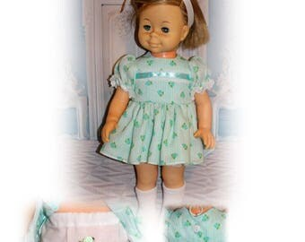 Singing Chatty Cathy Doll not included. Dress & Panties. Vintage Toy Doll Clothes. Handmade in the USA.