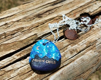 Moon Child rock pendant necklace