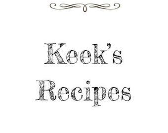 Keek's Recipes Cookbook
