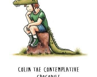 Colin the Crocodile greeting card