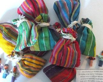 Worry Dolls Authentic Fair Trade Guatamalan Worry Dolls 6 dolls per Pouch