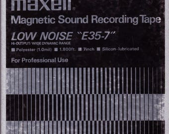Maxell Low Noise E35-7 Reel to Reel tape (1,800 feet / 1 mil thickness)