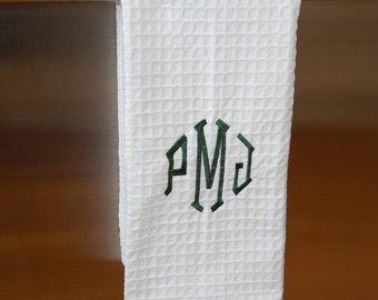 Monogram Dish Towel, Wedding Gift, Hostess Gift, Personalized Gift, Hand Towel