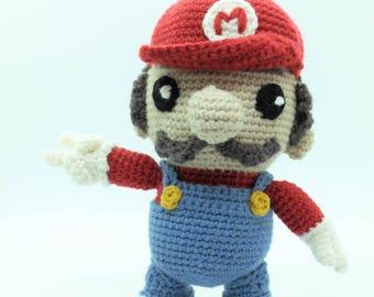 Super Mario in wool / Super Mario Nintendo Amigurumi