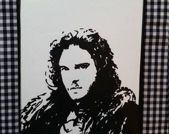 "Jon Snow 5""x7"" Painting - Game of Thrones"