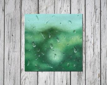 Soft green · Original oil painting · (20*20*0.3cm)