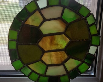stain glass turtle shell