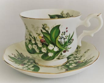 Sant James Cup and saucer-fine Chinese bone porcelain-manufactured in England