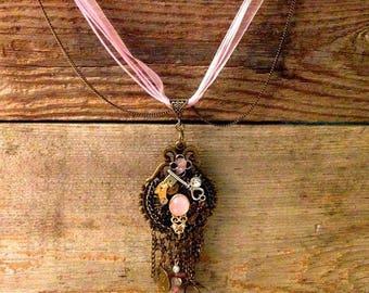 Steampunk-Gypsy Necklace- Handmade Necklace