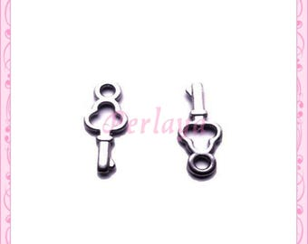 Set of 20 REF880X4 silver key charms