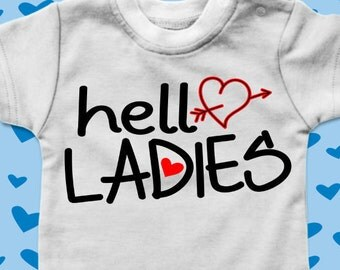 Boy Valentine's Svg - Valentine svg - Hello Ladies svg - Kids svg - Funny svg - Heart svg - Love svg - Boy Baby svg - SVG - dxf -eps-pdf-png