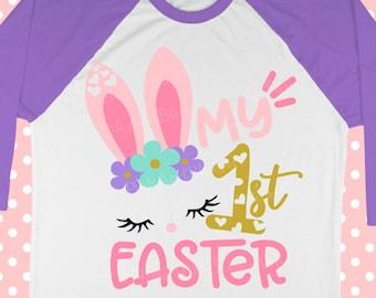 Baby svg - Easter svg - Birthday svg - Bunny face svg - Bunny svg - My first easter svg - Little girl svg - Newborn SVG, dxf, eps, png, pdf