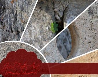 "Photoshop texture stone, digital paper,  ""Stones from Malta"" - Set 1 - Color"