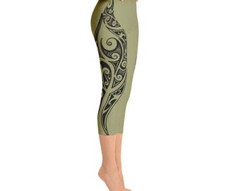 Maori Design Capri Leggings