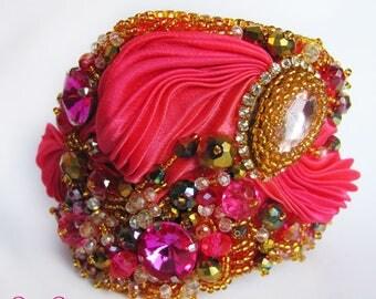 Shibori bracelet pink
