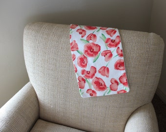 Floral Baby Burp Cloth