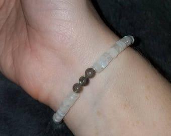 Moonstone & Labradorite Bracelet