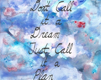 Don't call it a plan quote