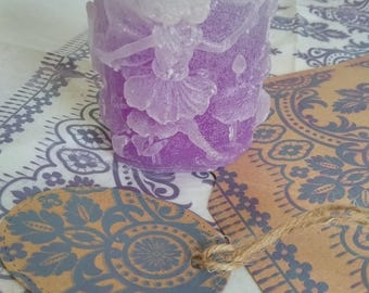 Faded Lavender Fairy Candle