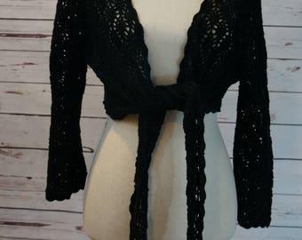 Vintage Crochet Tie Front Top