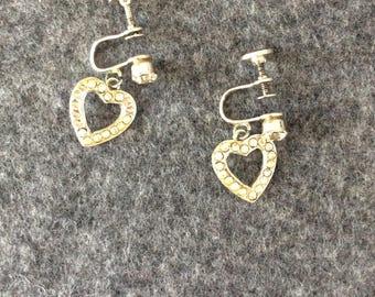 Heart Shaped Vintage Earrings twist posts