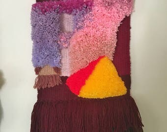 The Other Window by Esther Marie Hall, an original woven sculptural painting