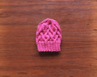 Hand Knitted Cables Baby Hat