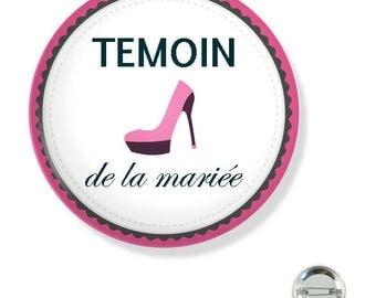 38MM badge / maid of honor pink heel