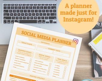 Social Media Planner   Business planner insert, marketing planner, blog planner, online business planning, social media, printable planner