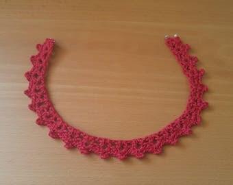 Handmade Crochet Choker | Red