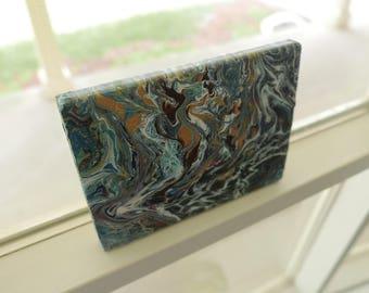 """Acrylic Abstract on Cedar Wood (5""""x7"""")"""