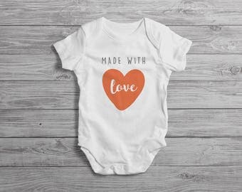 Made With Love Baby Onesie // New Baby Gift // New Baby Outfit // New Baby Onesie // New Baby Clothing