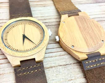 Engraved Wood Watch, Men's Wooden Watch, Husband Gift, Wood Watches for Men, Gifts for Him, Boyfriend Gift, Gifts for Dad, Father's Day Gift