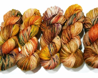 Hand Dyed Yarn: October - Heather Base {Merino/Cashmere/Nylon 250yd, sport} Suitable for knitting and crochet