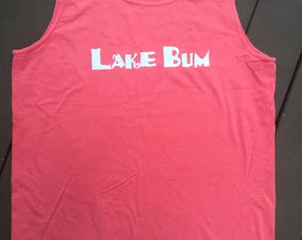 Comfort Colors Tank, Lake Bum Tank, Lake Tank Top, Vacation Tank, Summer Tank Top, Comfort Colors Tank
