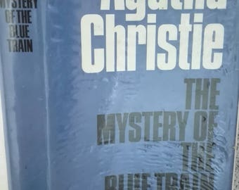 The Mystery of the Blue Train Agatha Christie 1970,s hardback copy with protected dustcover ex library