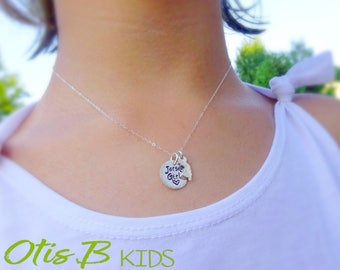 Jersey Girl Necklace, state necklace, New Jersey, hometown America jewelry, sterling silver state necklace, Otis B